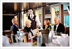The fine dining experience on river cruise ships.
