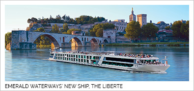 Emerald Waterways new ship, the Liberte.