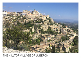The hilltop village of Luberon in the Provence Region of France.