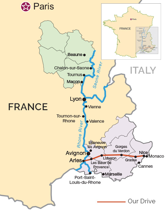 Map Of France South.Our Drive Through The South Of France Route Map