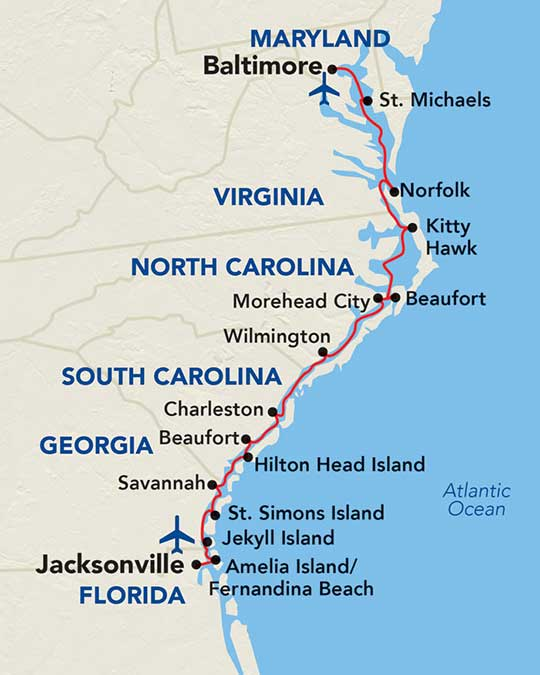 American Cruise Lines | Coastal Southeast | 15 Day East ... on map of southeast usa, map of southeast ontario canada, map of southeast us national parks, map of southeast massachusetts towns, map of southeast indiana, map of southeast coast cities, map of southeast coast of us, map of southeast florida coast, map of eastern north carolina coast, southeast region beaches, map southeast fl, southeast coast beaches, map of southeast florida cities, map of southeast florida towns, east coast georgia beaches, map of southeast texas counties, map of south east coast united states, map of southeast washington dc, map of south west florida, map of southeast north carolina,