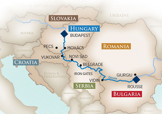 AmaWaterways Gems Of Southeast Europe Itinerary Route Map - Most up to date maps