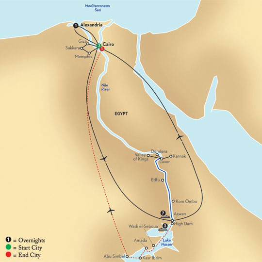 lake nasser africa map Avalon Waterways Egypt The Nile And Lake Nasser Itinerary Was lake nasser africa map