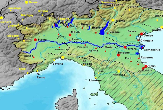 Po River Map Po River Cruises River Cruises in Italy Uniworld